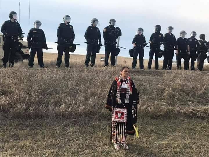 This is the face of Standing Rock.