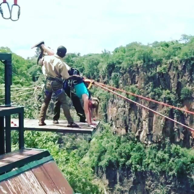 Would you dare to do the #wildhorizons gorge swing?  #VictoriaFalls  #whyilovevictoriafalls #Zimbabwe