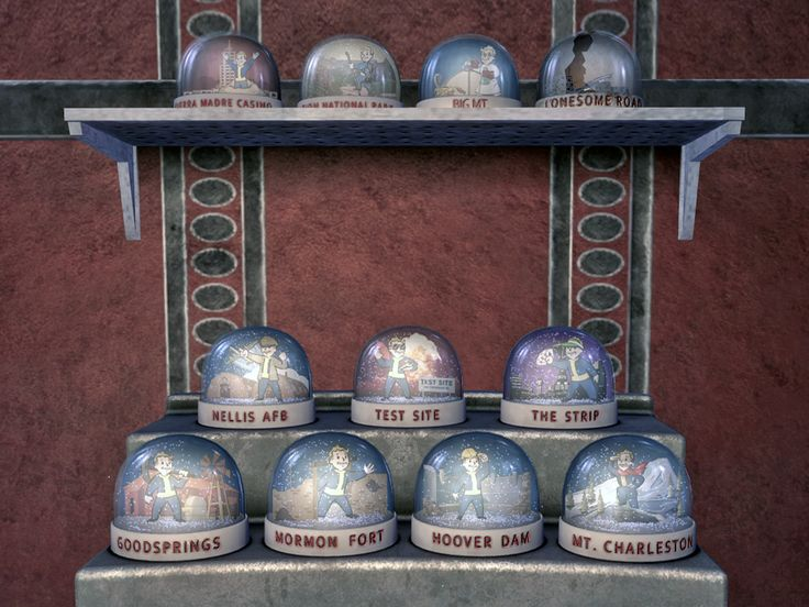 Fallout: New Vegas Snow Globes.