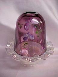 Fenton Violet Fairy Lamp