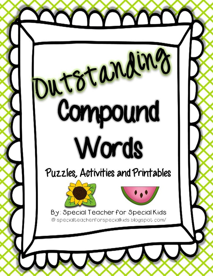17 Best Images About Compound Words On Pinterest Picture Cards Pancakes And Student
