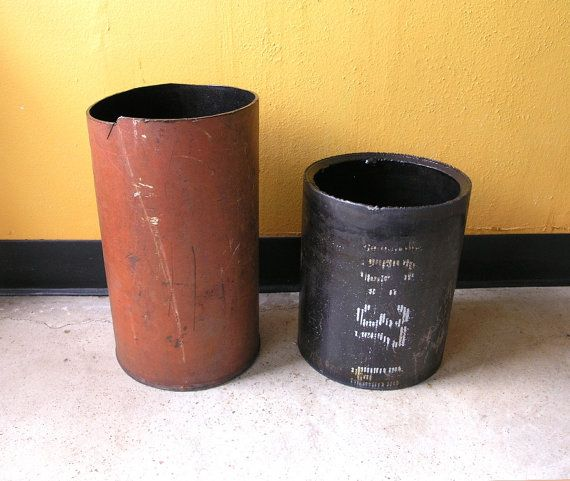 industrial waste baskets/functional  planter/bauble holders.  by paulaart on etsy