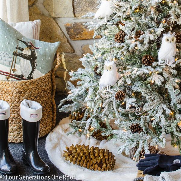 Our frosted fraser fir christmas tree | Four Generations One Roof