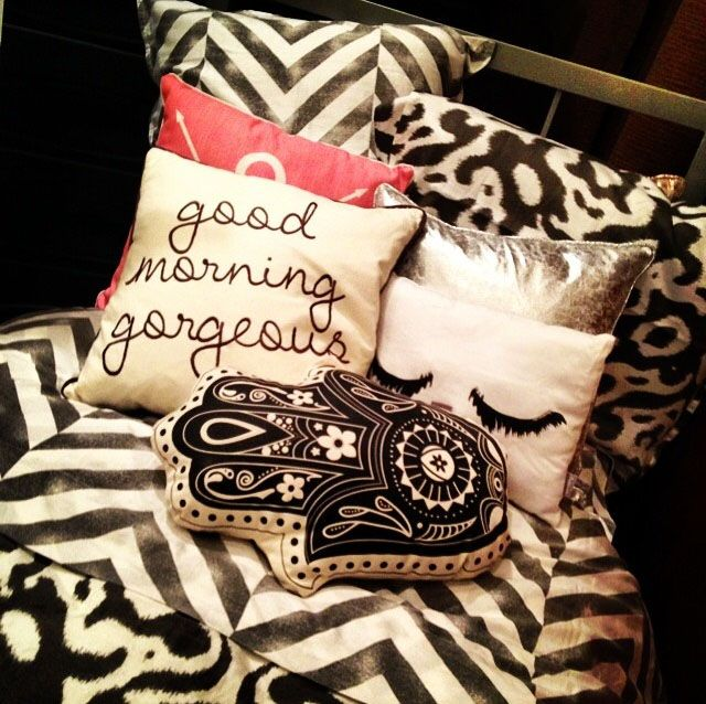 Style your bed with multiple prints! http://www.dormify.com/collections/upper-east-side-collection