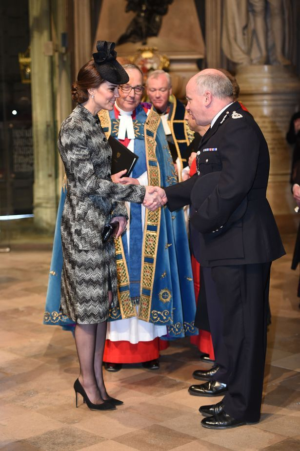hrhduchesskate:  Service of Hope for  Westminster Attack Victims, Westminster Abbey, April 5, 2017-The Duchess of Cambridge meets with Acting Commissioner of the Metropolitan Police Jeff Mackey