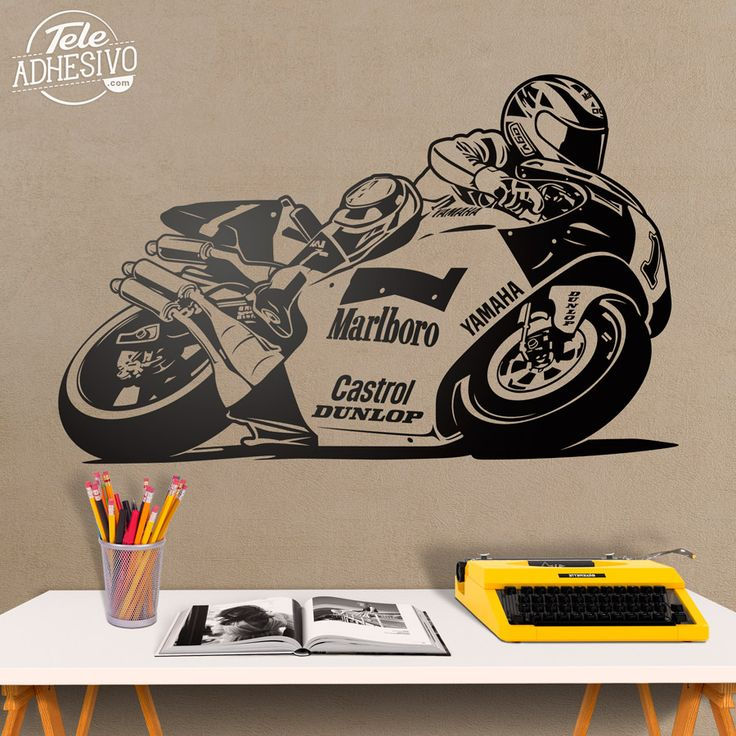 Vinilos Decorativos: Moto Yamaha Wayne Rainey #moto #yamaha #gp #motor #vinilo #decoración #pared #TeleAdhesivo