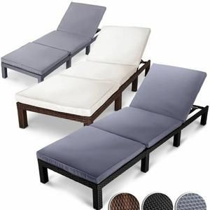 Trend Poly Rattan Garden Furniture Dining Set Rectangular Table Outdoor Patio Seater Cube