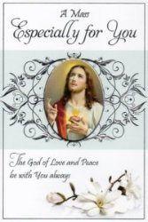 Mass Card - Sacred Heart of Jesus.