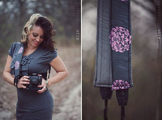 Quick Release Hipster Camera Strap  Botanical by sewtamz on Etsy, $31.99