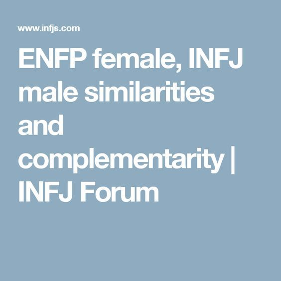 Infp man dating enfp girl