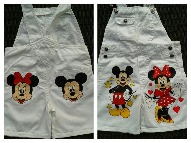 painted clothing - Mickey Mouse and Minnie Mouse