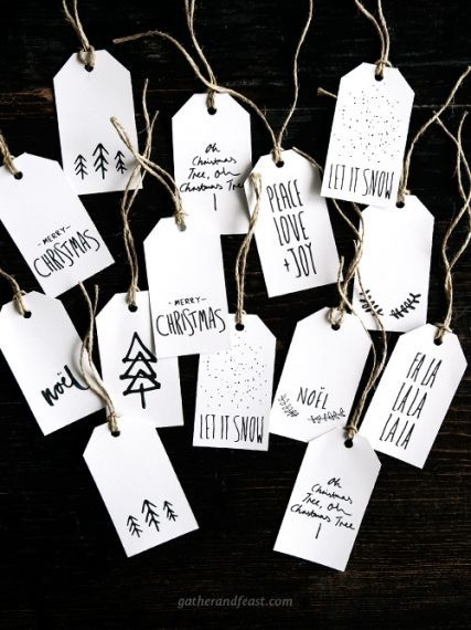 Free Christmas Gift Tags I Weihnachtsgeschenke ver…