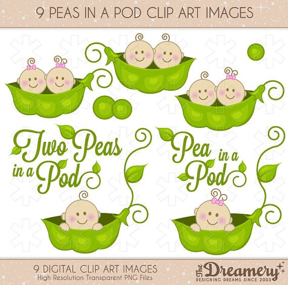 peas in a pod baby shower clip art images instant download png