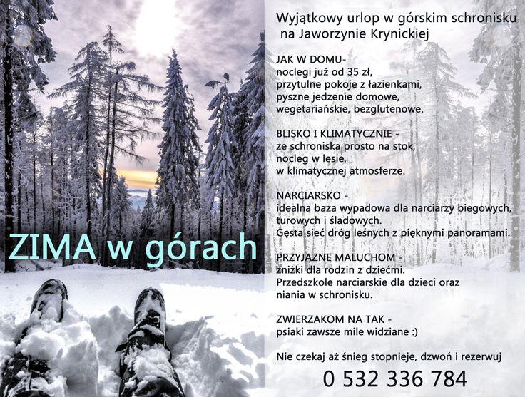 #zima #ferie #schronisko #taninocleg #narty #wypoczynek #rodzina #ferie #rodzina
