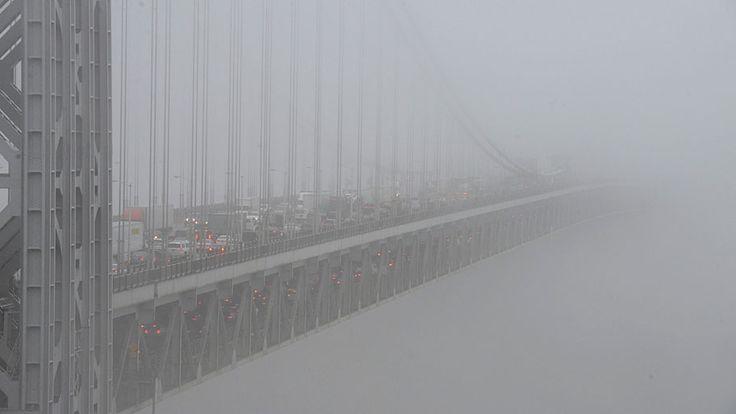 - Veículos enfrentam trânsito ao longo da ponte George Washington, em Nova Jersey. Foto: Carmine Galasso / The Record of Bergen County /AP