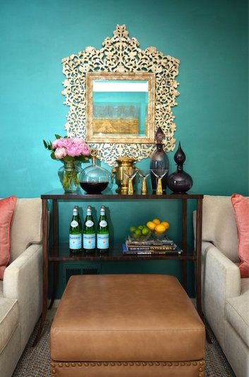 what a mirror. How close to the look could you get with stenciling on the wall (or foamcore and cutting it out?)?!?!?