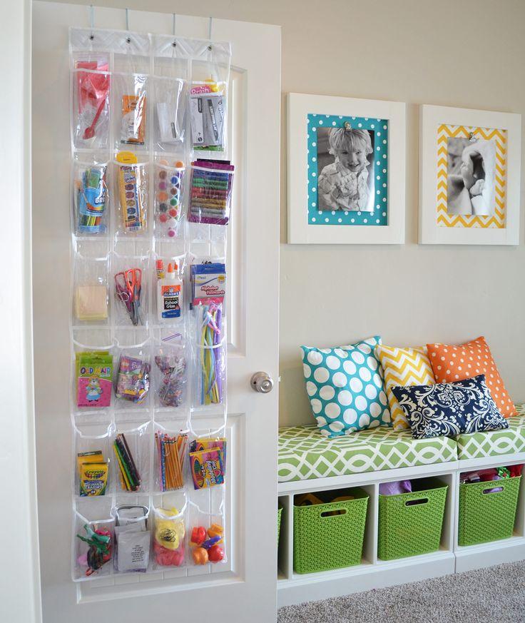 кармашки для хранения игрушек в детской комнате