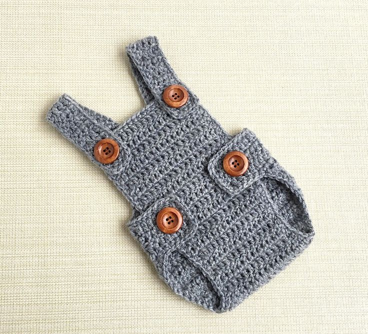 Baby Boy Romper. Newborn Picture Outfit 0-3 month Boy Clothes, Grey Crochet Overall. New born Photography Props. Babies Shower Gift Idea