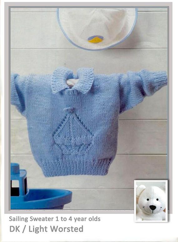 DK Sailing Sweater 1 to 4 year olds patten from www.yarnpassion.com
