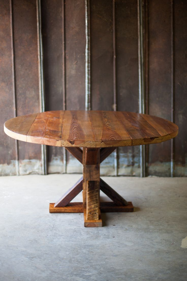 Reclaimed Wood Atlanta Georgia Athens Round Farm Table