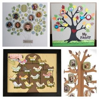 Family tree crafts.  Great for grandparents day.  #craft #family #familytree