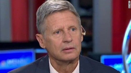 Libertarian presidential candidate Gary Johnson seemed to inadvertently reveal a…