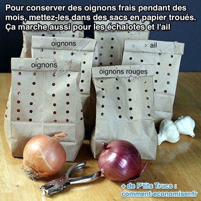 Comment conserver les oignons frais plus longtemps