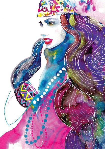 Magical #TurbanChic Fashion Illustration <3 #BabesInTurbs | http://etsy.me/1DHwbux