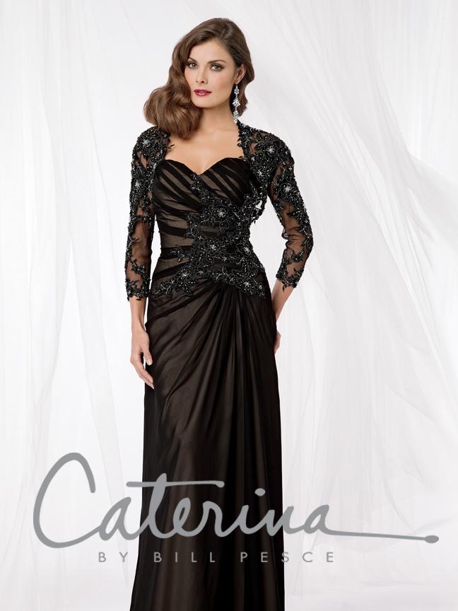 33 best black bridesmaid dresses images on pinterest for Black lace jacket for wedding dress