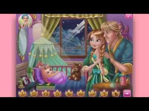 Frozen Disney Anna Kristoff Frozen kristoff Anna baby feeding videos games for kids - YouTube