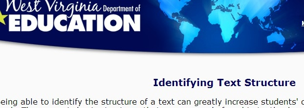 'Identifying text structures' resources WV