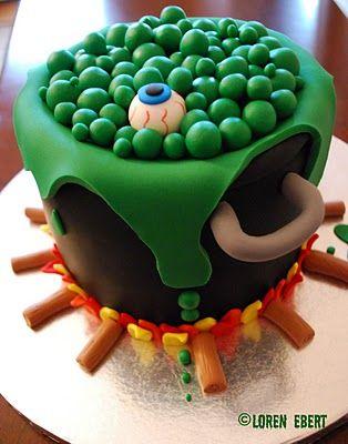 Eye of Newt Witch's Brew Cake!: Food, Brew Cake, Baking, Halloween Cakes, Halloween Ideas, Halloween Party, Eye, Witches Brew