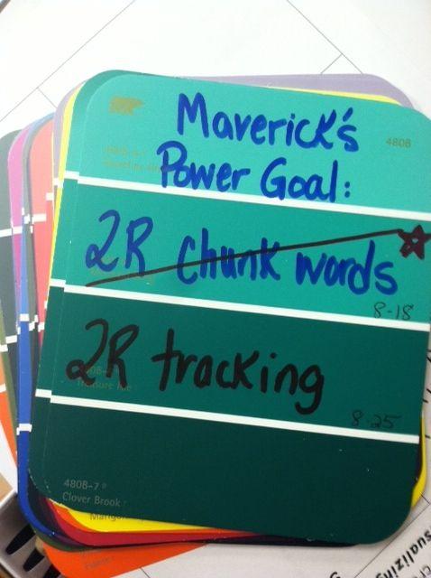 IRLA reading power goal bookmark for student accountability