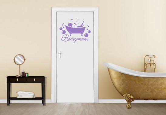 """Wandtattoo """"Badezimmer"""" in verschiedenen Farben und Größen von www.wall-art.de"""