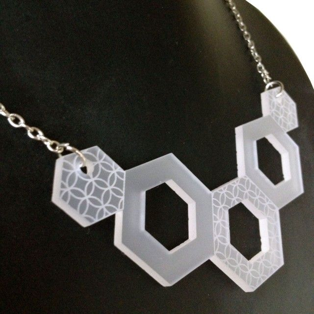 GEOMETRIC necklace, frosty - Geometric - TEMA