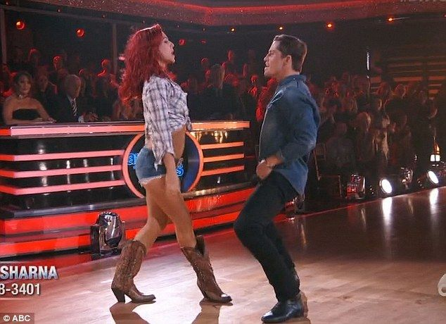 Serious chemistry: Bonner Bolton and pro partner Sharna Burgess showed some serious chemistry