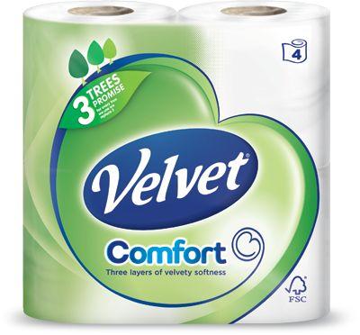 Velvet Comfort Toilet Paper