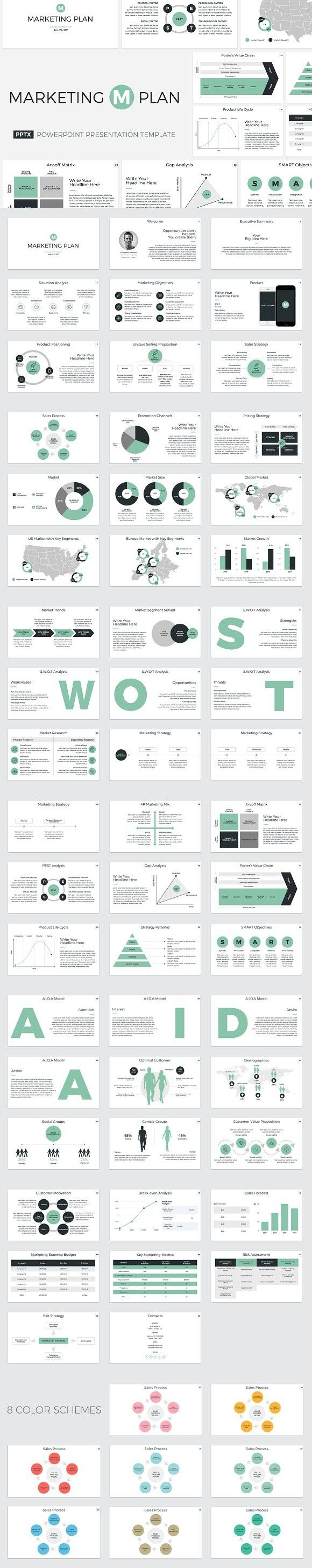 Marketing Plan PowerPoint Template. Presentation Templates