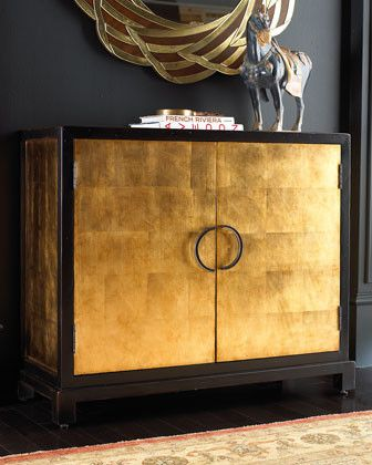 """Gold-Leaf Chest  Feel like the King or Queen of your castle with a """"Gold-Leaf"""" chest! This two-door chest will add a... more »  $999.00 