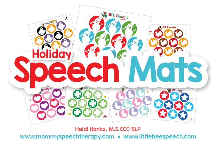 Free Holiday Speech Mats from Mommy Speech Therapy! Pinned by SOS Inc. Resources. Follow all our boards at pinterest.com/sostherapy/ for therapy resources.