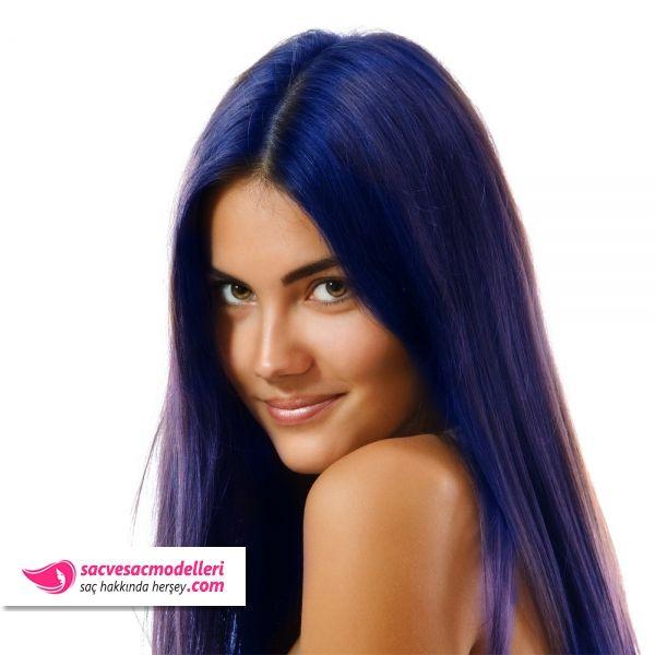 mavi siyah saç rengi modelleri