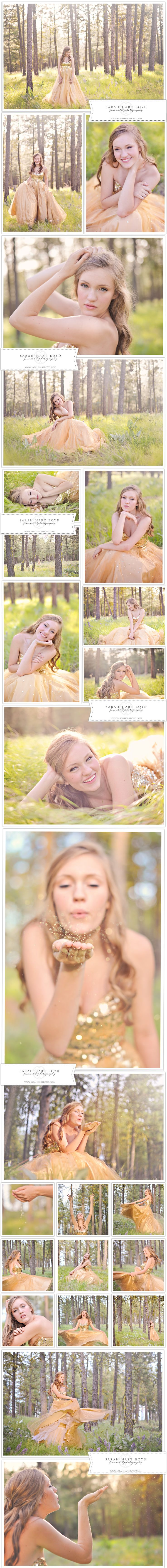 Maddie | Whimsical Dress Session | Chelan, WA Senior Photographer {posing great for bridal too}