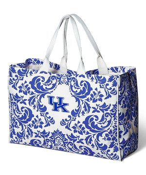 Hold game-day goodies or flaunt fabulous style on an everyday basis with this durable all-cotton tote ready to handle any kind of cargo.