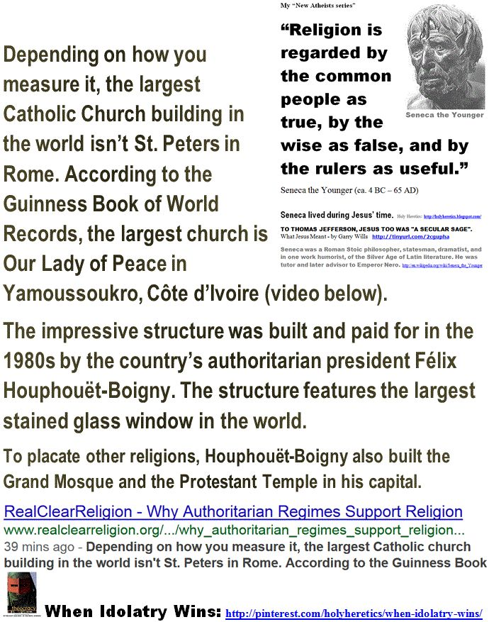"""http://www.pinterest.com/pin/540924605215439083/  Pro-Slavery Idolatries - The Greatest Fraud:  Why Authoritarian Regimes Support Religion - SENECA - STALIN. > """"All religions have based morality on obedience, that is to say, on voluntary slavery. That is why they have always been more pernicious than any political organization. For the latter makes use of violence, the former - of the corruption of the will."""" - Alexander Herzen  http://www.pinterest.com/pin/540924605215448337/"""
