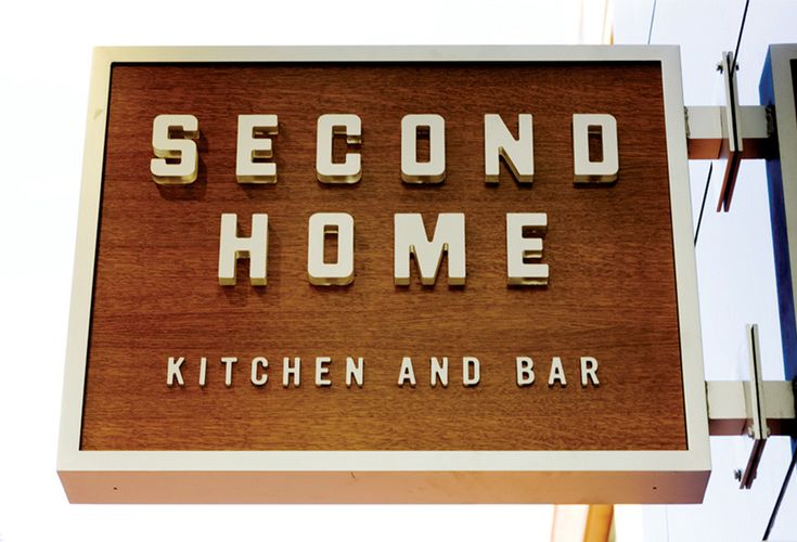 Second Home Kitchen and Bar | Client: Sage Restaurant Group | Brand identity, stationary, collateral, and signage for an eatery in Cherry Creek, Colorado | Designer: Bryant Ross | Image 5 of 7