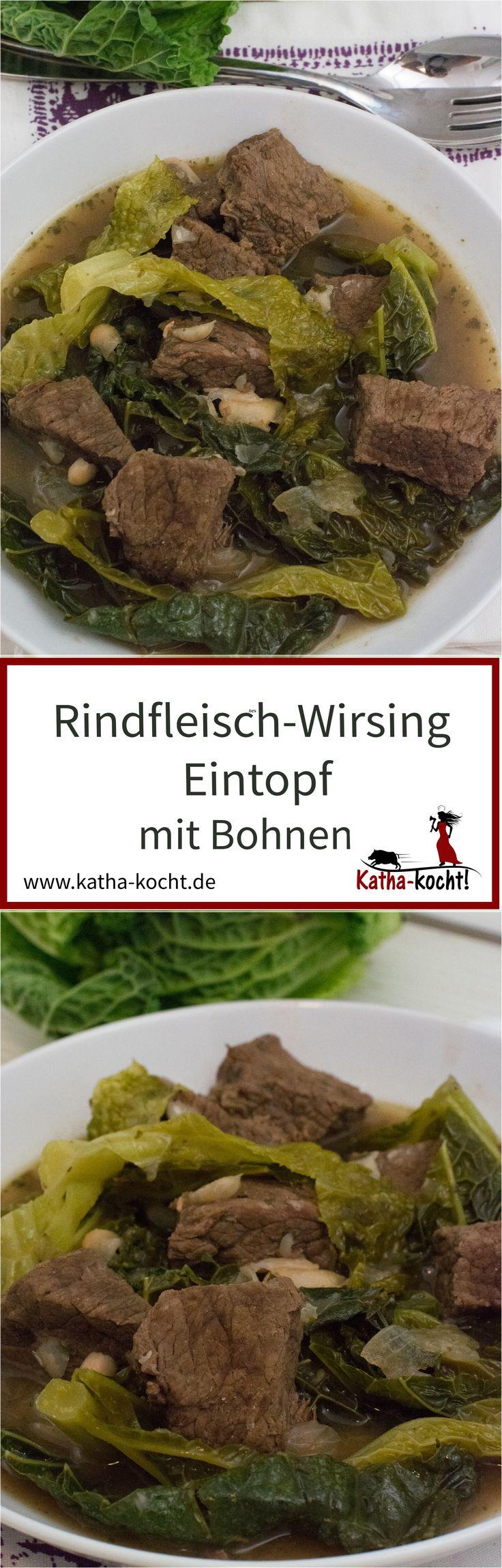 Rindfleisch-Wirsing Eintopf mit Bohnen - katha-kocht!