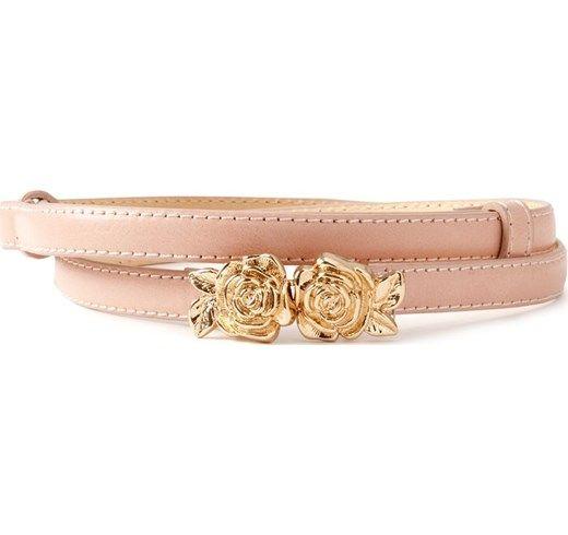 Cintura sottile, fermaglio fantasia di rose dorate 11 eur
