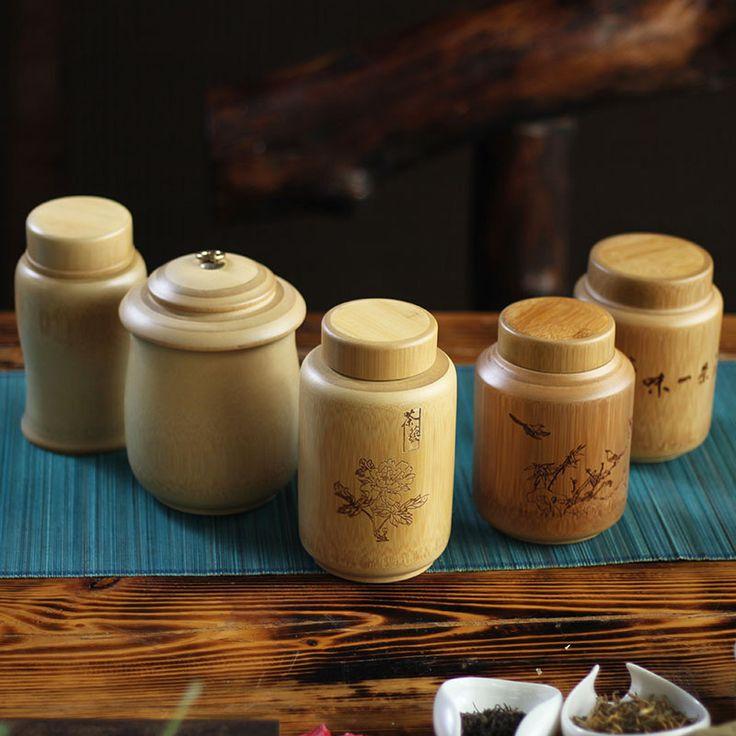Натуральный бамбук чай коробки специи банки старинные чай кофе сахар банки запечатанные банки крышка ящик для хранения кухня jar ручной опто... | 32669893969_he