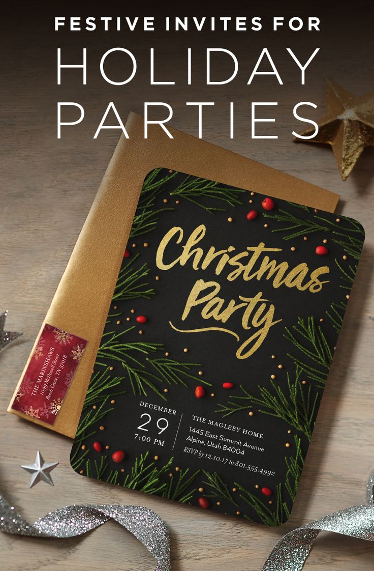 Celebrate the most wonderful time of the year with personalized holiday party invitations to share in your holiday cheer. Raise a glass! | Shutterfly