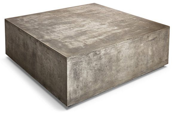 Bloc 40 Coffee Table Gray Concrete Stone Coffee Table